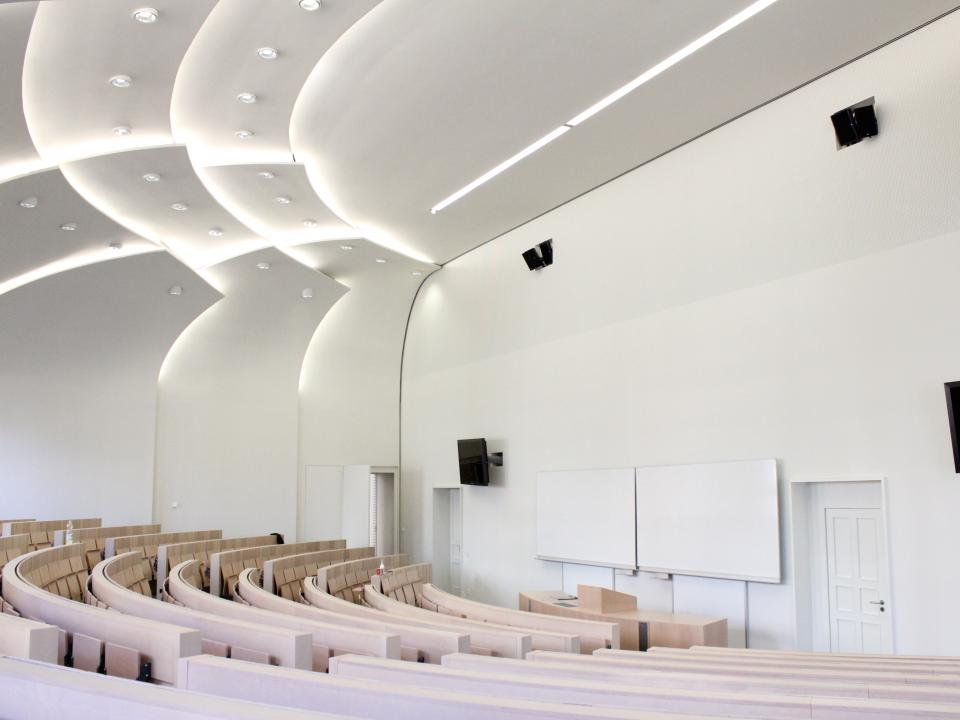 humboldt lecture theatre saint gobain gyproc. Black Bedroom Furniture Sets. Home Design Ideas